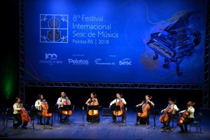 8 º Festival Internacional Sesc de Música em Pelotas-RS UDI Cello Ensemble – Theatro Guarany Data: 17-01-2018 Foto: Flávio Neves
